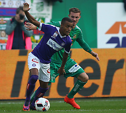 23.10.2016, Allianz Stadion, Wien, AUT, 1. FBL, SK Rapid Wien vs FK Austria Wien, 12 Runde, im Bild Felipe Pires (FK Austria Wien) und Mario Pavelic (SK Rapid Wien) // during Austrian Football Bundesliga Match, 12th Round, between SK Rapid Vienna and FK Austria Wien at the Allianz Stadion, Vienna, Austria on 2016/10/23. EXPA Pictures © 2016, PhotoCredit: EXPA/ Thomas Haumer