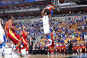Terrence Jones #3 of the Kentucky Wildcats gets free for a dunk against Royce White #30 of the Iowa State Cyclones during the third round of the NCAA men's basketball championship on March 17, 2012 at KFC Yum! Center in Louisville, Kentucky. Kentucky advanced with an 87-71 win. (Photo by Joe Robbins)
