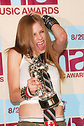 in the Press Room at the 2002 MTV Video Music Awards at Radio City Music Hall in New York City, August 29, 2002. Photo by Evan Agostini/ImageDirect.
