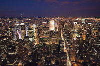 view from the empire state building in New York City October 2008