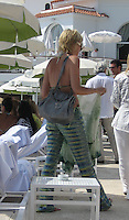 **EXCLUSIVE**.Sharon Stone by the pool.Hotel Du Cap - 2007 Cannes Film Festival .Cap D'Antibes, France .Tuesday, May 23, 2007.Photo By Celebrityvibe; .To license this image please call (212) 410 5354 ; or.Email: celebrityvibe@gmail.com ;