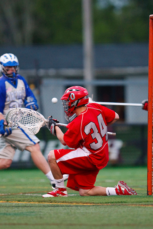 May 1, 2009:     #34 Brandon Freeman of Ohio State in action during the NCAA Lacrosse game between Air Force and Ohio State at GWLL Tournament in Birmingham, Michigan. Ohio State defeated Air Force 10-5.  (Credit Image: Rick Osentoski/Cal Sport Media)