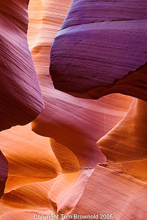 Antelope Canyon in the Navajo sandstone of the Colorado plateau of Northern Arizona