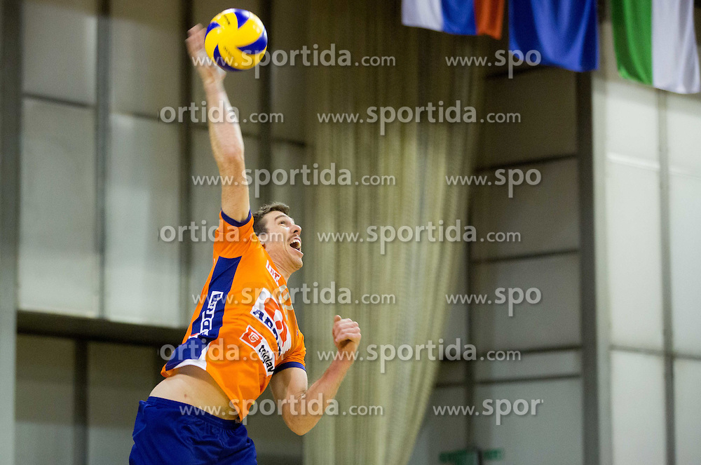 Eric Mochalski of ACH during volleyball match between ACH Volley Ljubljana and GO Volley Nova Gorica in 11th Round of 1. DOL 2014/15, on November 13, 2014 in Hala Tivoli, Ljubljana, Slovenia. Photo by Vid Ponikvar / Sportida
