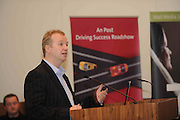 Matt Cooper  at the An Post Driving Success Roadshow at the Radisson Hotel, Galway. The event focused on practical and creative marketing techniques and saw attendees gain valuable insights into successful campaigns from leading marketing experts. Broadcaster Matt Cooper was MC at the event. .Photo:Andrew Downes