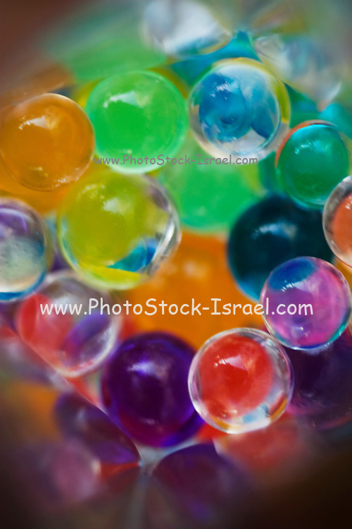 Colourful and vivid glass ball marble