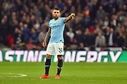Nicolas Otamendi (30) of Manchester City during the Carabao Cup Final match between Chelsea and Manchester City at Wembley Stadium, London, England on 24 February 2019.