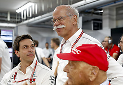 June 23, 2018 - Le Castellet, France - Motorsports: FIA Formula One World Championship 2018, Grand Prix of France, .Toto Wolff (AUT, Mercedes AMG Petronas Motorsport), Dr. Dieter Zetsche (Chairman of the Board of Management of Daimler AG, Head of Mercedes-Benz Cars), Niki Lauda (AUT, Mercedes AMG Petronas Motorsport) (Credit Image: © Hoch Zwei via ZUMA Wire)
