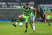 Forest Green Rovers Charlie Cooper(15) controls the ball during the EFL Sky Bet League 2 match between Yeovil Town and Forest Green Rovers at Huish Park, Yeovil, England on 24 April 2018. Picture by Shane Healey.