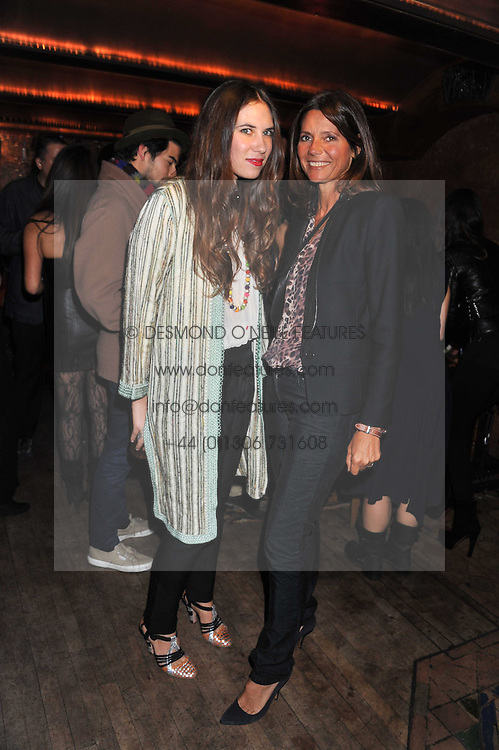 Left to right, TATIANA SANTO DOMINGO and COUNTESS DEBONAIRE VON BISMARCK at a party to celebrate the opening of the Muzungu Sisters Pop Up Store at Momo - an ethically sourced fashion brand  held at Momo, 25 Heddon Street, London on 27th October 2011.