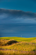 St Andrews The Castle Course at sunset with the North Sea in the background