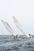 Bagatelle and Madcap sailing in the Museum of Yachting Classic Yacht Regatta.
