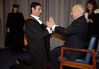 Rehursing ceremony at Cambridge University Graduation Day 2007.