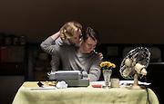 The Wife - Production &amp; Publicity Stills <br /> 31.10.16. CS 1 - Sc 28- JOE AND JOANS ROOM<br /> Young Joe and Young Joan kiss<br /> <br /> <br /> <br /> PRODUCTION OFFICE<br /> Suite 6, 1st Floor, Alexander Stephen House, 91 Holmfauld Rd, Glasgow, G51 4RY<br /> Tel: 0141 428 3776<br /> <br /> credit Graeme Hunter Pictures,<br /> Sunnybank Cottages.  117 Waterside Rd, Carmunnock, Glasgow. U.K.  G76 9DU. <br />  t.  01416444564 <br /> m. 07811946280 <br /> e.  graemehunter@mac.com&quot;