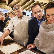 Old grower families visit Martell Cognac, the region's oldest great house. Some families have supplied Martell for nine generations. Martell works with 1,200 suppliers across the Cognac region and supplies its luxury spirits around the world, especially in the USA and China.In 1715, Jean Martell, a young merchant originally from Jersey, created his own trading business at Gatebourse in Cognac, on the banks of the Charente River, and thus founded one of the very first cognac houses. Martell used grapes from the vineyards in the Borderies subregion, and used Tronçais oak for its casks, this made a combination that resulted in an exceptionally smooth cognac.
