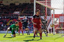 Bristol City Forward Sam Baldock (ENG) looks frustrated as his set piece shot goes wide during the second half of the match - Photo mandatory by-line: Rogan Thomson/JMP - Tel: Mobile: 07966 386802 27/04/2013 - SPORT - FOOTBALL - Ashton Gate - Bristol. Bristol City v Huddersfield Town - npower Football League Championship.