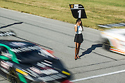 October 3-5, 2013. Lamborghini Super Trofeo - Virginia International Raceway. Grid rolls off for race 2.