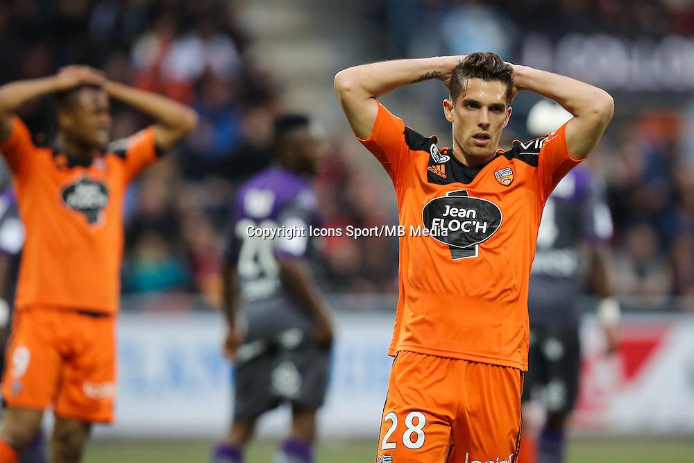 Deception Maxime BARTHELME - 18.04.2015 - Lorient / Toulouse - 33eme journee de Ligue 1<br />Photo : Vincent Michel / Icon Sport