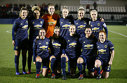 February 7, 2019 - London, England, United Kingdom - Manchester United Women FC  Team shoot.during FA Continental Tyres Cup Semi-Final match between Arsenal and Manchester United Women FC at Boredom Wood on 7 February 2019 in Borehamwood, England, UK. (Credit Image: © Action Foto Sport/NurPhoto via ZUMA Press)