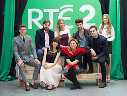 Repro Free: 11/09/2014<br /> Darren Kennedy, Bernard O Se, Vogue Williams, Eoghan McDermott, Bressie and Diana Bunici, (front) Jennifer McGuire and Norah Casey pictured at the RT&Eacute; Two New Season Launch in Gateway House, Capel Street. Picture Andres Poveda