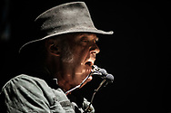 GLASGOW, SCOTLAND - JUNE 05:  Neil Young performs at The SSE Hydro on June 5, 2016 in Glasgow, Scotland.  (Photo by Ross Gilmore/Redferns)
