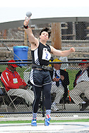 Cinnaminson's Kamron Kobolak makes a throw in the shot put at the 124th running of the Penn Relays Friday, April 27, 2018 in Philadelphia. (Photo by William Thomas Cain)