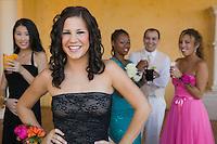 Teenage Girl in Prom Dress