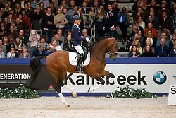 Cornelissen Adelinde, (NED), Henkie<br /> Gekeurde Gelderse Hengst 2015<br /> KWPN Hengstenkeuring - 's Hertogenbosch 2016<br /> © Hippo Foto - Dirk Caremans<br /> 06/02/16