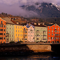 Europe, Austria; Innsbruck.  Winter cityscape.