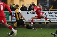 Photo: Pete Lorence.<br />Boston United v Swindon Town. Coca Cola League 2. 20/01/2007.<br />Michael Pook sends Swindon into the lead.