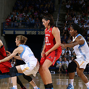 Washington Mystics Rookie Center Stefanie Dolson (31), CENTER, attempts to set the screen in second half of an WNBA preseason basketball game between the Chicago Sky and the Washington Mystics Tuesday, May. 13, 2014 at The Bob Carpenter Sports Convocation Center in Newark, DEL