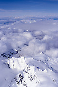 Snow covered mountain peaks