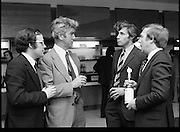 Leopardstown Reception - Whiskey 03/06/1976  06/03/1976.3rd June 1976.Hedges & Butler Ireland Ltd., reception for Bell's Whiskey at Leopardstown..Pictured L-R, Mr. Padar McCormack, (Kelly and Company), Mr. Maurice Kelly, (Kelly and Company), Mr. David Millard, (Millard & Co.), and Mr. G.R. Newbold, (Bells)  06/03/1976.3rd June 1976.Hedges & Butler Ireland Ltd., reception for Bell's Whiskey at Leopardstown