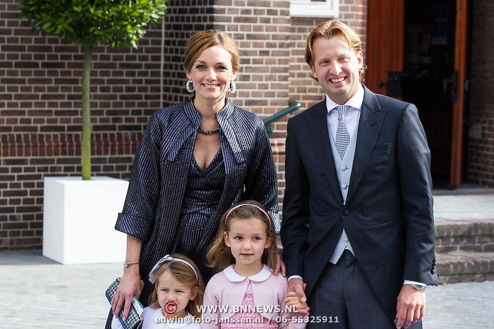 NLD/Apeldoorn/20130105 - Huwelijk prins Jaime en prinses Viktoria Cservenyak, pirns Floris en partner Aimee Söhngen en kinderen Magali Margriet Eleonoor, Eliane