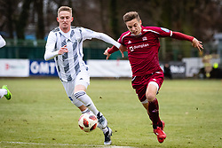 Zan Karnicnik of NS Mura and Tilen Mlakar of NK Triglav Kranj during football match between NŠ Mura and NK Triglav in 19th Round of Prva liga Telekom Slovenije 2018/19, on December 9, 2018 in Fazanerija, Murska Sobota, Slovenia. Photo by Blaž Weindorfer / Sportida