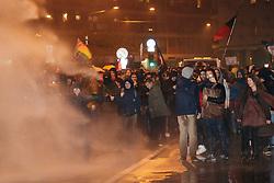 Foto Filippo Rubin<br /> 14/11/2019 Bologna (Italia)<br /> Cronaca Politica<br /> Manifestazione contro Matteo Salvini - Bologna<br /> Nella foto: i manifestanti in piazza durante il corte<br /> <br /> Photo by Filippo Rubin<br /> November 14th, 2019 Bologna (Italy) News Demonstration against Matteo Salvini <br /> In the pic: people during the procession