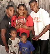(from left, rear) Terrence Talbott, Natasha White, Terry Talbott, Jr. (from left, front) DeMorea Benson, 7; Devoni'ye Benson, 6; Sunday August 12, 2007.