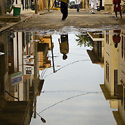 SAINT-LOUIS DU SENEGAL (Senegal). 2007. Flooded street in Saint-Louis du Senegal
