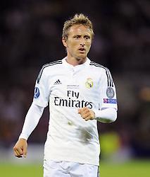 Real Madrid's Luka Modric - Photo mandatory by-line: Joe Meredith/JMP - Mobile: 07966 386802 12/08/2014 - SPORT - FOOTBALL - Cardiff - Cardiff City Stadium - Real Madrid v Sevilla - UEFA Super Cup