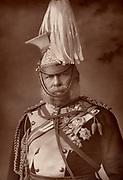 George William Frederick Charles, 2nd Duke of Cambridge (1819-1904). English soldier; cousin of Queen Victoria; field-marshal; commander-in-chief of the army 1887; In the Crimean (Russo-Turkish) War 1853-1856 he commanded a division in 1854; present at the bttles of Alma and Inkermann. From 'The Cabinet Portrait Gallery' (London, 1890-1894).  Woodburytype after photograph by W & D Downey.