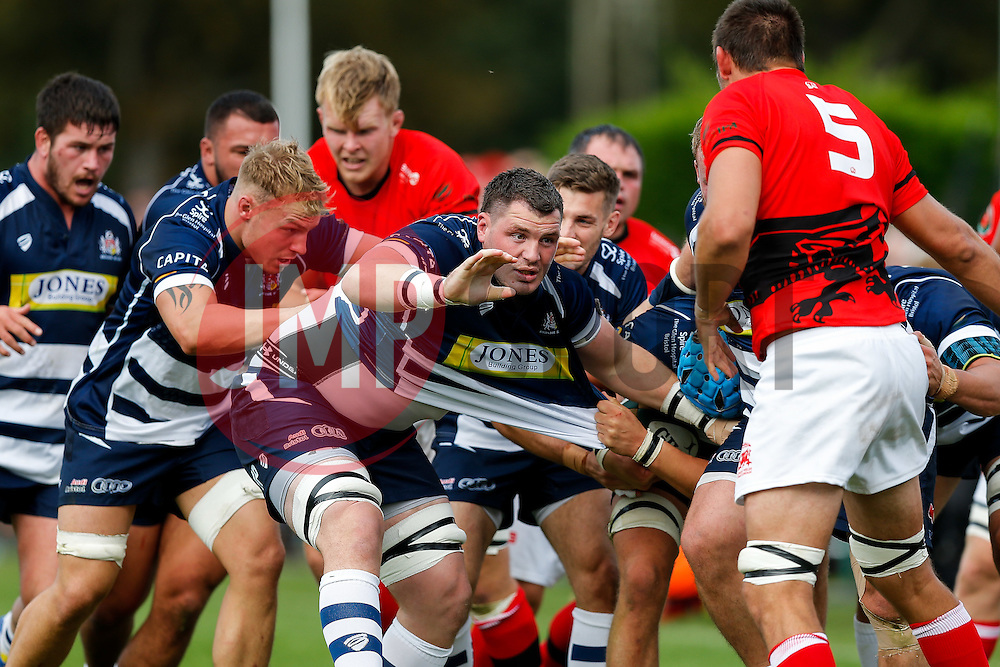 Bristol Rugby replacement James Phillips in action at a maul - Mandatory byline: Rogan Thomson/JMP - 07966 386802 - 13/09/2015 - RUGBY UNION - Old Deer Park - Richmond, London, England - London Welsh v Bristol Rugby - Greene King IPA Championship.