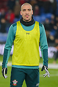 Southampton midfielder Oriol Romeu (14) warms up prior to the Premier League match between Crystal Palace and Southampton at Selhurst Park, London, England on 21 January 2020.