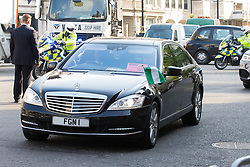 "St James, London, May 12th 2016. Protesters from transparency and accountability group One demonstrate demanding ""a new, global standard of transparency that could end the corruption that keeps people poor"". PICTURED; A Nigerian diplomatic car arrives at the conference."