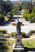 SANTIAGO DE COMPOSTELA, SPAIN - 10th of October - Statue of Manuel Ventura in Alameda park, Santiago de Compostela, Galicia, Northern Spain Spain.
