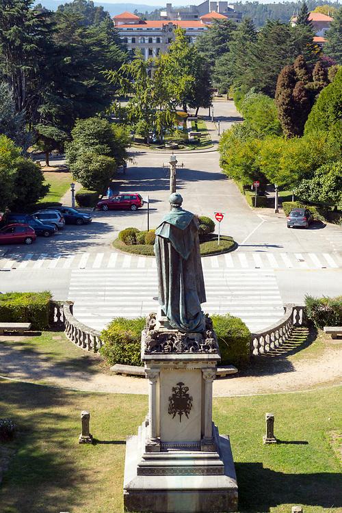 Statue of Manuel Ventura, Alameda park, Santiago de Compostela, Galicia, Spain, 2017-10-10.