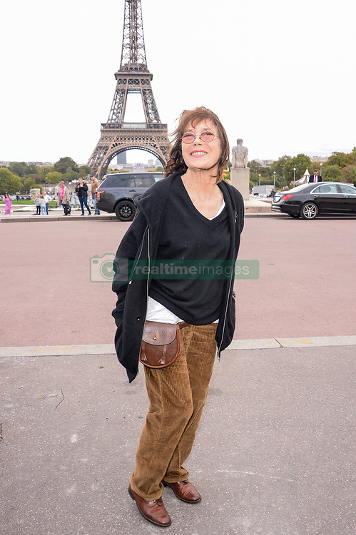 Jane Birkin attending the Hermes Fashion Show at Trocadero during Paris Fashion Week Spring Summer 2018 held in Paris, France on October 2, 2017. Photo by Julien Reynaud/APS-Medias/ABACAPRESS.COM