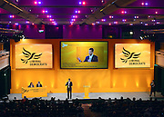 © Licensed to London News Pictures. 09/03/2013. Brighton, UK. Nick Clegg, Liberal Democrat Leader and Deputy Prime Minister gives a question and answer session, at the Liberal Democrat Spring Conference in Brighton today 9th March 2013. Photo credit : Stephen Simpson/LNP