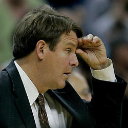 Dec 18, 2009; New Orleans, LA, USA; New Orleans Hornets assistant coach Tim Floyd watches his team during the second half against the Denver Nuggets at the New Orleans Arena. The Hornets defeated the Nuggets 98-92. Mandatory Credit: Derick E. Hingle-US PRESSWIRE