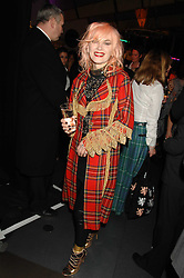 PAM HOGG at a Burns Night party hosted by designer Christoper Kane at Harvey Nichols, Knightsbridge, London on 25th January 2008 in association with VisitScotland to promote Edinburgh & Glasgow City Breaks.<br />