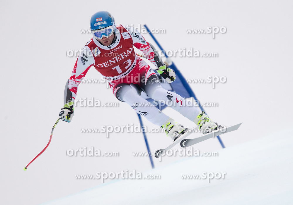 23.01.2015, Streif, Kitzbuehel, AUT, FIS Ski Weltcup, Supercombi Super G, Herren, im Bild Georg Streitberger (AUT) // Georg Streitberger of Austria in action during the men's Super Combined Super-G of Kitzbuehel FIS Ski Alpine World Cup at the Streif Course in Kitzbuehel, Austria on 2015/01/23. EXPA Pictures © 2015, PhotoCredit: EXPA/ Johann Groder